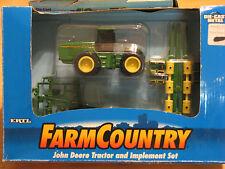 1995 ERTL JOHN DEERE 8870 4-WHEEL DRIVE TRACTOR w/7200 PLANTER & RIPPER. NIP