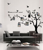 large Photo Picture Tree Frame Wall Stickers Vinyl Decals Mural Home Decor DIY