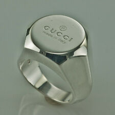GUCCI STERLING SILVER HEAVY MEN'S RING size 7