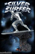 MARVEL SILVER SURFER estatuastatue  23cm porcelan cold-cast Hard Hero
