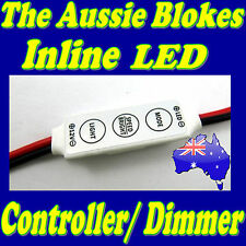 IN-LINE LED STRIP LIGHT DIMMER with on/off switch Caravan Camper Kitchen Boat