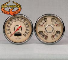 1939 Ford Gauges, New Vintage gauge kit-Woodward series Beige