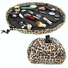 LAY-N-GO COSMO Leopard Makeup Bag Travel Convenient MAC Lancome Covergirl