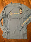 Under Armour Fish UPF30 Lt Blue Long Sleeve Shirt, Size Xl, NWT $49