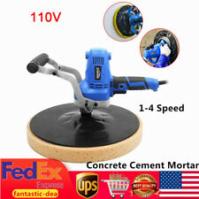 110V Concrete Cement Mortar Electric Trowel 1-4 Speed Wall Smoothing Polish USA