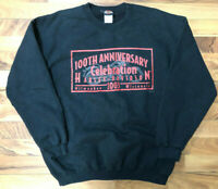 Harley Davidson Sweatshirt Men's Large Black Cotton Crew Neck Logo Graphic GUC