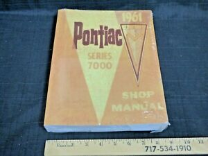 1961 PONTIAC Strato-Chief, Laurentian, Parisienne Car CDN Shop Repair Manual