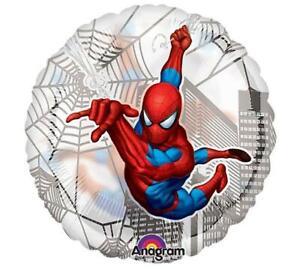 """Spider-Man Foil Mylar Balloon 18"""" Clear Round Spiderman Birthday Party Supplies"""