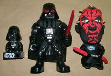 Darth Vader & Darth Maul Dolls         Three Figure Lot