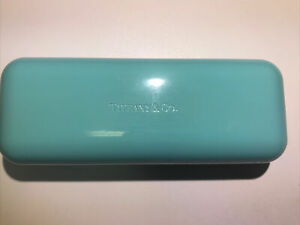 Tiffany & Co Eyeglass Hard Case for Glasses or Small Sunglasses 6.5 X 2.5 X 1.75