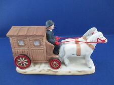Lefton 1989 Police Horse Drawn Wagon White Horses Policeman Figurine BX8 07324
