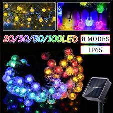 Solar 100 LED Fairy Bulb String Light 8 Modes Outdoor/Indoor Wedding Xmas