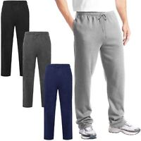MENS JOGGING SWEAT PANTS BRUSHED FLEECE ELASTICATED WAIST BOTTOMS GYM TROUSERS