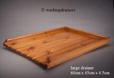LARGE Wooden Pine Worktop Draining Board for a Belfast/Butler Sink Drainer