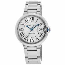 Nuevo Cartier Ballon Bleu 42mm Plata Cuadrante Reloj Automático Para hombres wsbb 0049