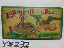 VINTAGE THE ARMY AND NAVY NEEDLE BOOK DIAMOND SHARPS DRILLED EYE