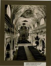 Schneider, Suisse, Lucerne vintage print, Switzerland, eglise des Jésuites ou so