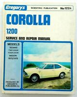 Gregorys Toyota Corolla 1200 Service Repair Manual 1970 1978 No 122A