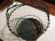 """Metal Basket  , Vintage , Wire , Ornate Design , 14"""" High"""
