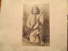 Postcard Native American Indian Geronimo Chiricahua Apache war Chief