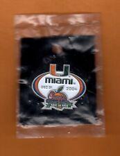 2004 Peach Bowl Game Site Pin Miami Hurricanes Unsold Concessions still pkgd