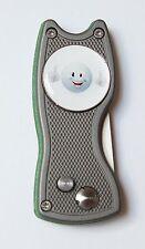 Pitchfix Hybrid, grau/grün, aufklappbare Pichgabel + Marker GOLFBALL SMILE TOP