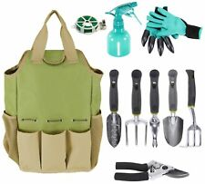 Inno Stage Gardening Tools Set and Organizer Tote Bag with 10 Piece Garden