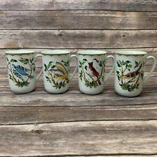 Georges Briard Woodland Melody Set/4 Mugs Birds Goldfinch American Tree Sparrow