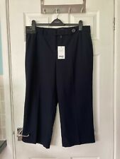 BNWT Next Tailoring Women's Navy Smart Culotte Trousers size 16