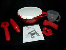 Tupperware My First Kids 12 Pc Baking Set In Red Brand NEW