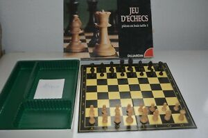 vintage Jeu de société Jeu d'échecs en Buis DUJARDIN LIVRAISON OFFERTE !!!!!!!!