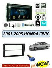 Honda Civic Sedan 2001-2005 No Sensor Velour Dash Cover Mat Dark Blue
