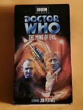 Rare Doctor Who Mind of Evil VHS Video Tape 3rd Dr Jon Pertwee Jo & The Master