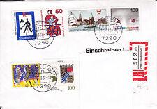 Brief, 1992, Einschreiben, Freudenstadt, nach Mannheim, s. Beschreibung,