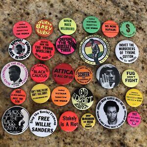 28 1960/70/80s CIVIL RIGHTS SOCIAL JUSTICE ANTI VIETNAM WAR PROTEST Button Pins