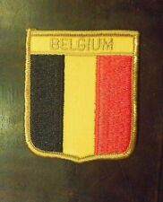 Vintage Belgium National Country Flag Sew On Patch