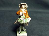 Erphila of Germany Girl with Flower Figure Handpainted