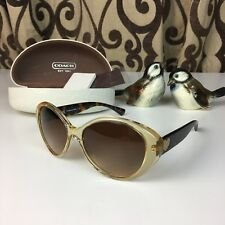 851bb6f83a New Womens Coach Nell Sunglasses Tortoise Sand MSRP  158 L917 Free Shipping  NEW