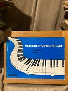 Méthode d'apprentissage piano clavinova éditions Yamaha