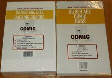 100 x SILVER AGE COMIC CONCEPT BACKING BOARDS + BAGS