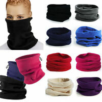 Unisex Fleece Snood Scarf Ski Balaclava Neck Winter Warmer Face Mask Beanie Hat