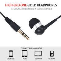 Single Side Universal 3.5mm Headset In Ear Mono Wire Earbud Earphone Headphone~