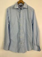 Banana Republic Slim Fit Button Up Long Sleeve Shirt Work Causal Blue Men's L