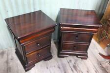 A Pair of Mahogany Bedsides in the Victorian Manner - Bedside Tables