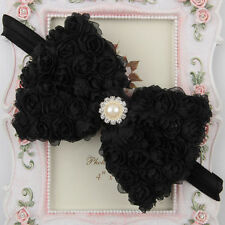 10 Style Baby Girl Flower Bow Hair Band Turban Knot Rabbit Headband Headwrap Lot