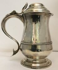 Antique GEORGIAN Silver Belly Tankard-Joseph Bell. 1762. Londres. - 725 G-Très bon état