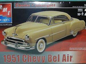AMT Ertl 1:25 Plastic Model Kit 1951 Chevrolet Bel Air New