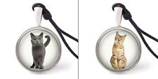 I Love Animals Lovely Cat Necklace Pendants Pewter Silver Jewelry Jnp