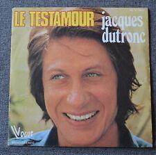Jacques Dutronc, le testamour / le dilemme, SP - 45 tours
