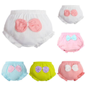 Toddler Baby Girls Bow Potty Training Pants Underwear Panties Brief Age 0-8 Year